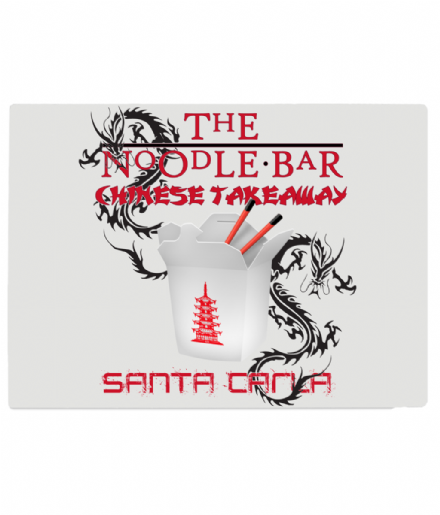The Noodle Bar Santa Carla Tempered Glass Chopping Board Inspired By Lost Boys